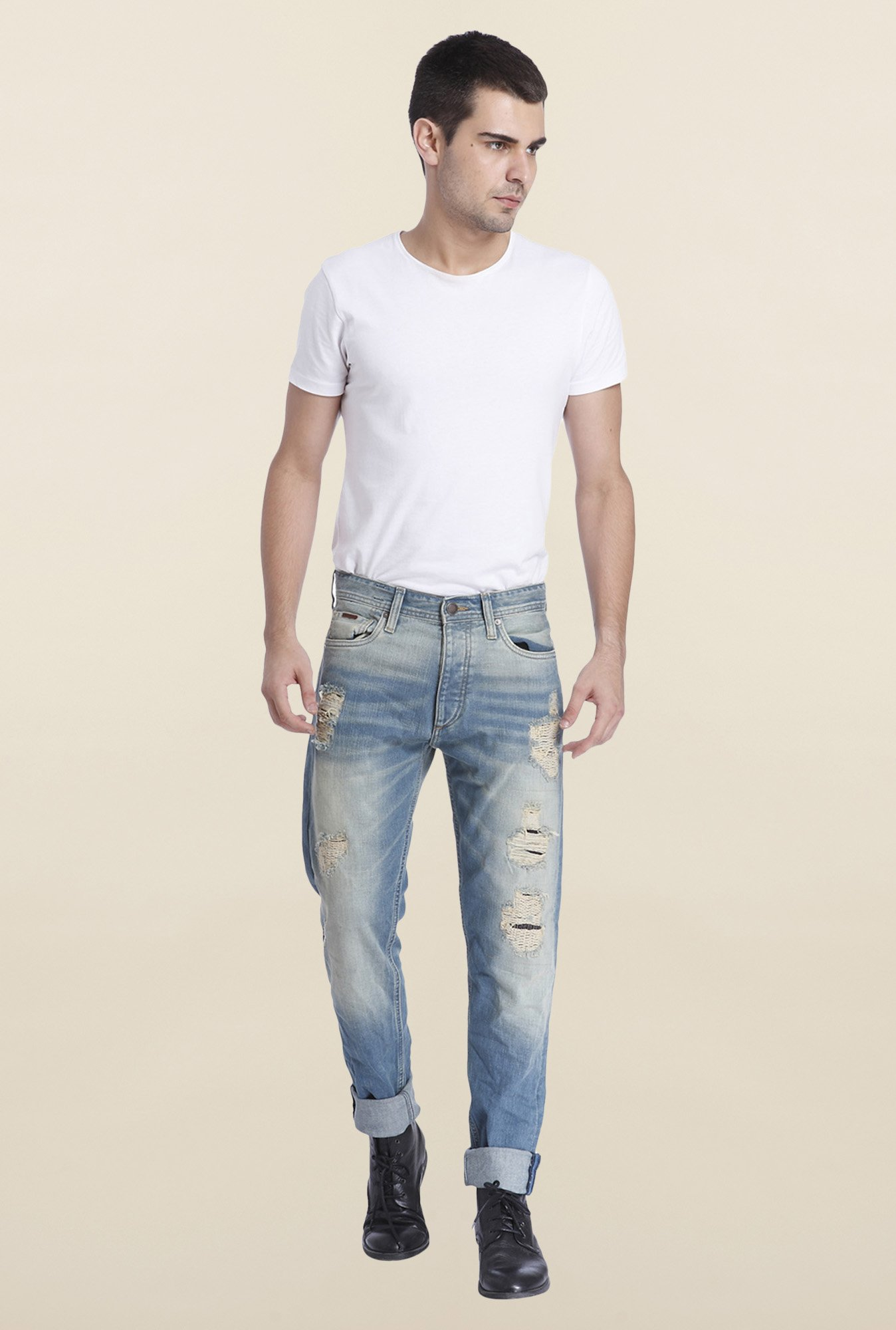 Jack & Jones Blue Ripped Erik Jeans