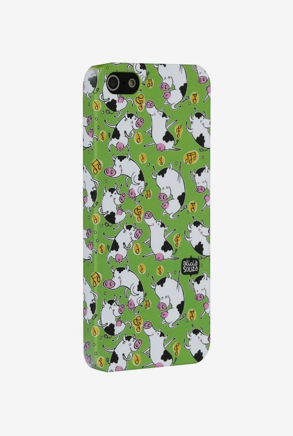 iAccy ASI502 Dancing Cow Case Multicolor for iPhone 5/5S