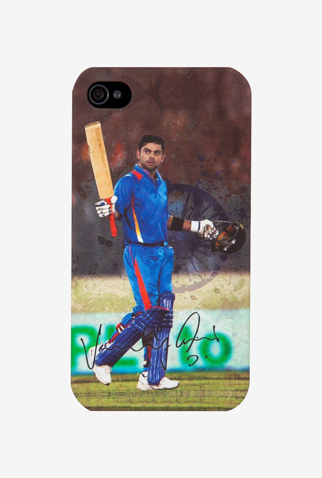 iAccy Virat Kohli Signature Case Multicolor for iPhone 4/4S