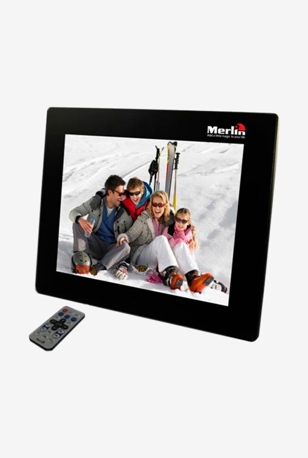 Merlin 12 Inch Digital Photo Frame Black