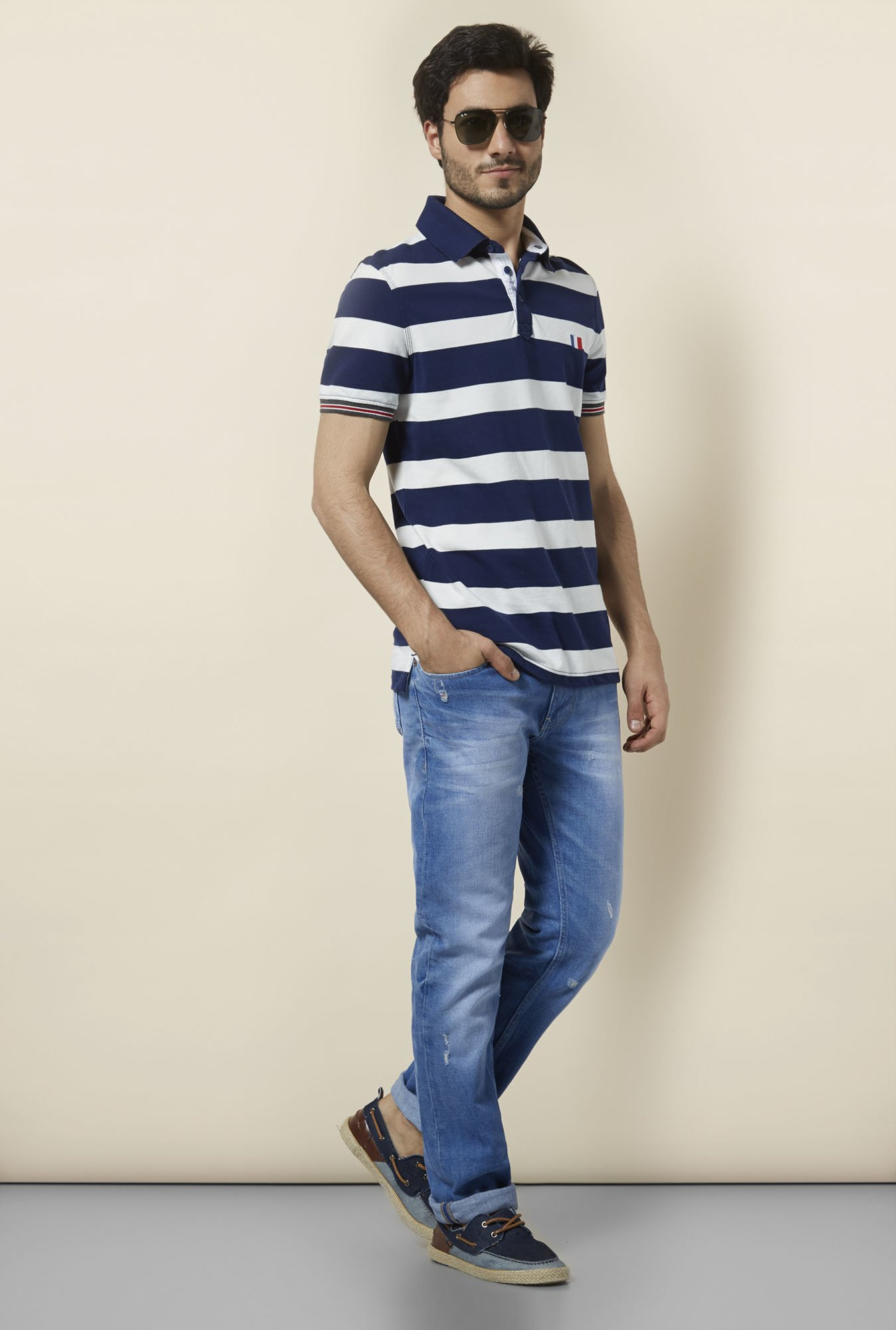 celio* Blue Mid Rise Regular Fit Jeans