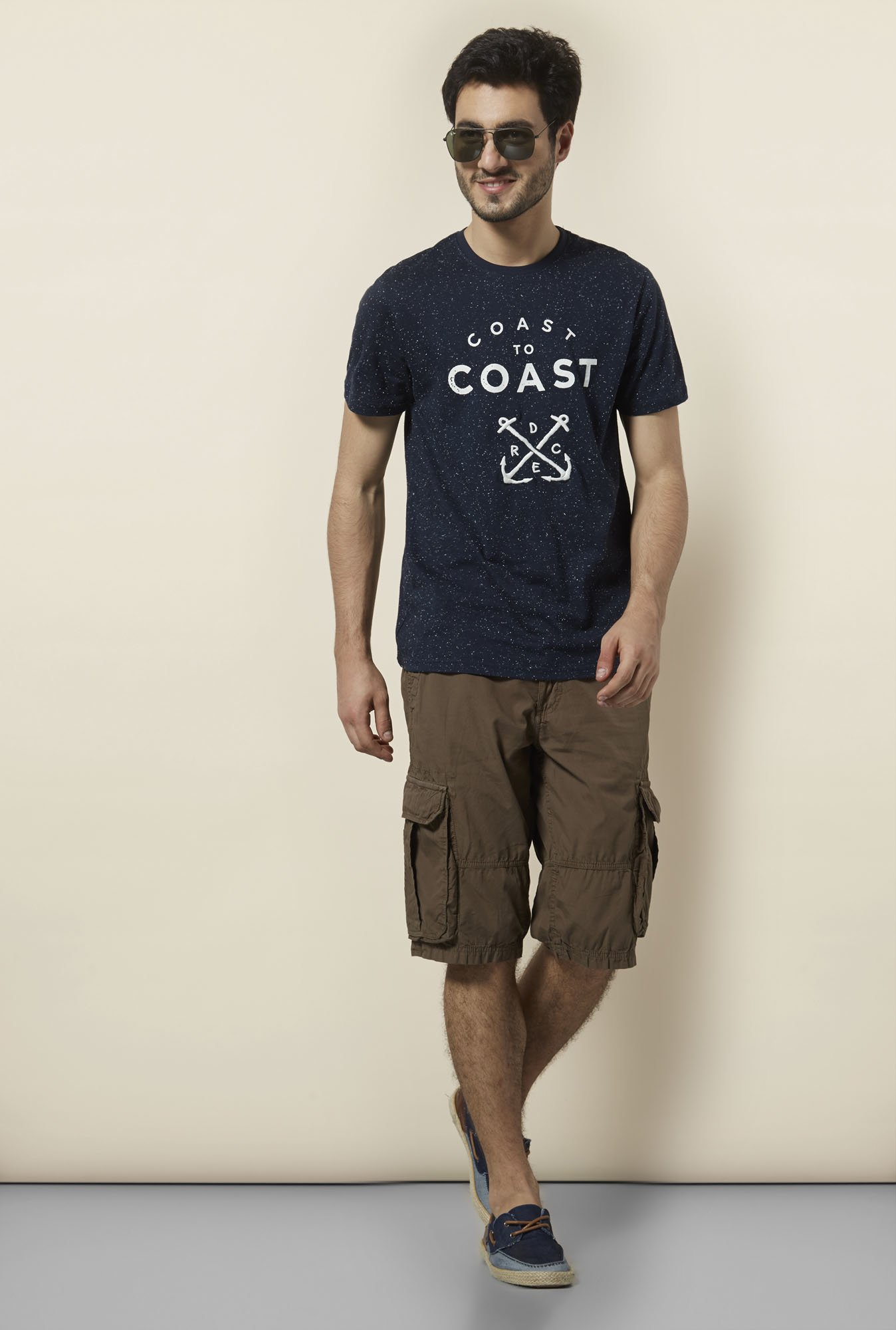 celio* Navy Crew Neck T-Shirt