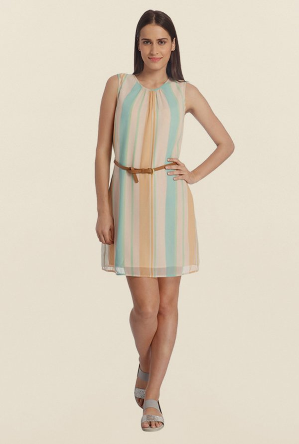 Vero Moda Multicolor Striped Dress