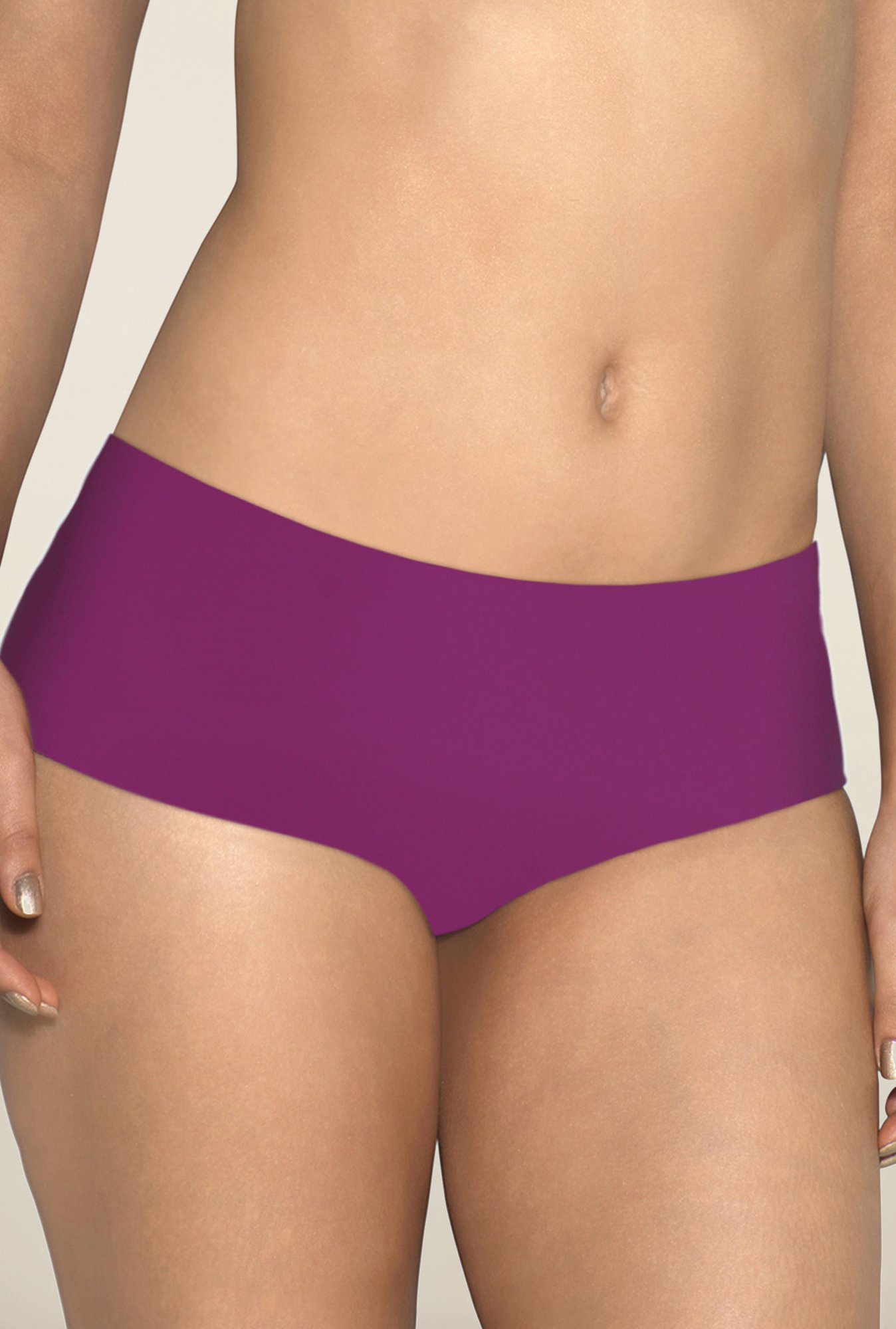 Amante Purple Solid Hipster Panty