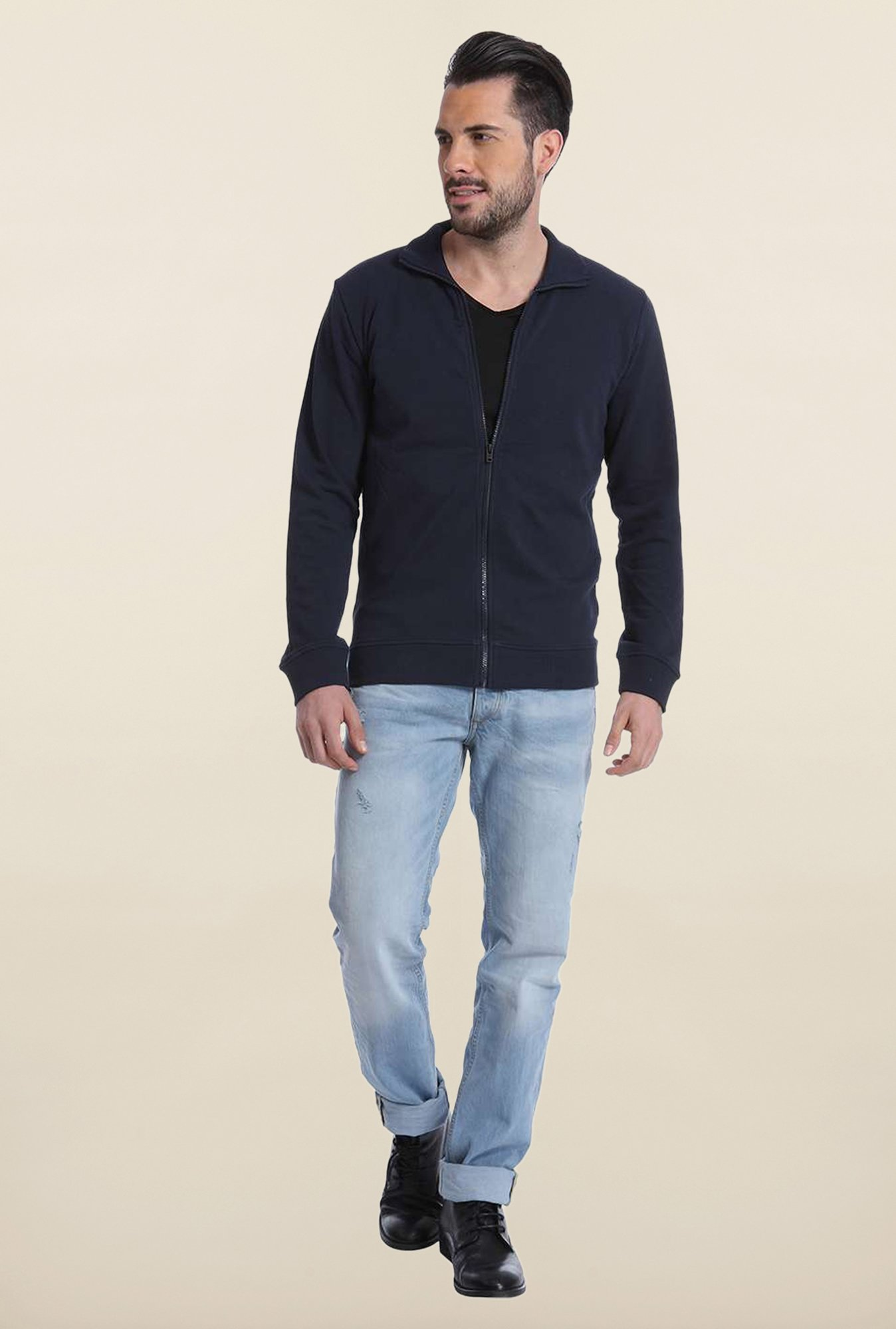 Jack & Jones Navy Solid Sweatshirt