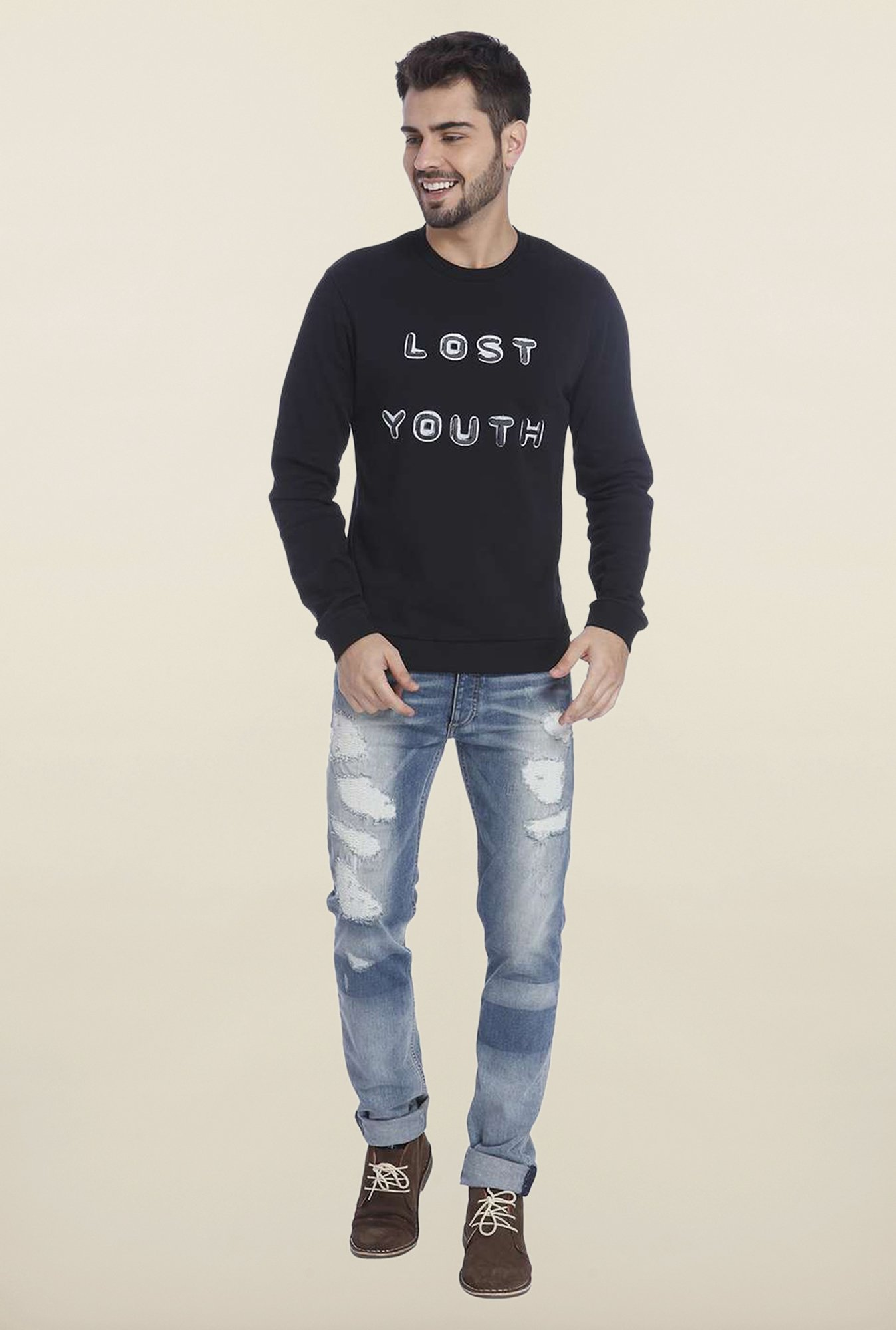 Jack & Jones Black Crew Neck Sweatshirt