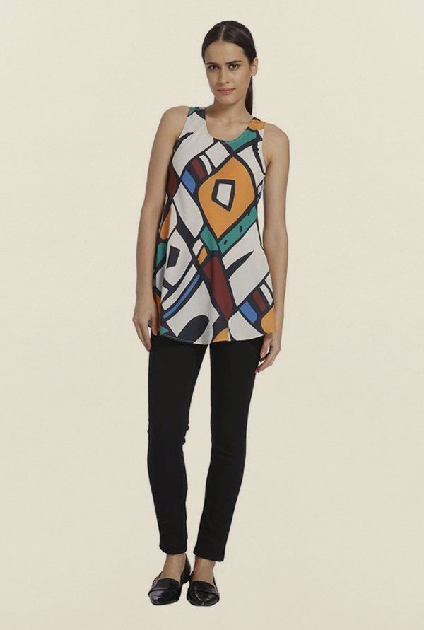 Vero Moda Multicolor Geometric Top