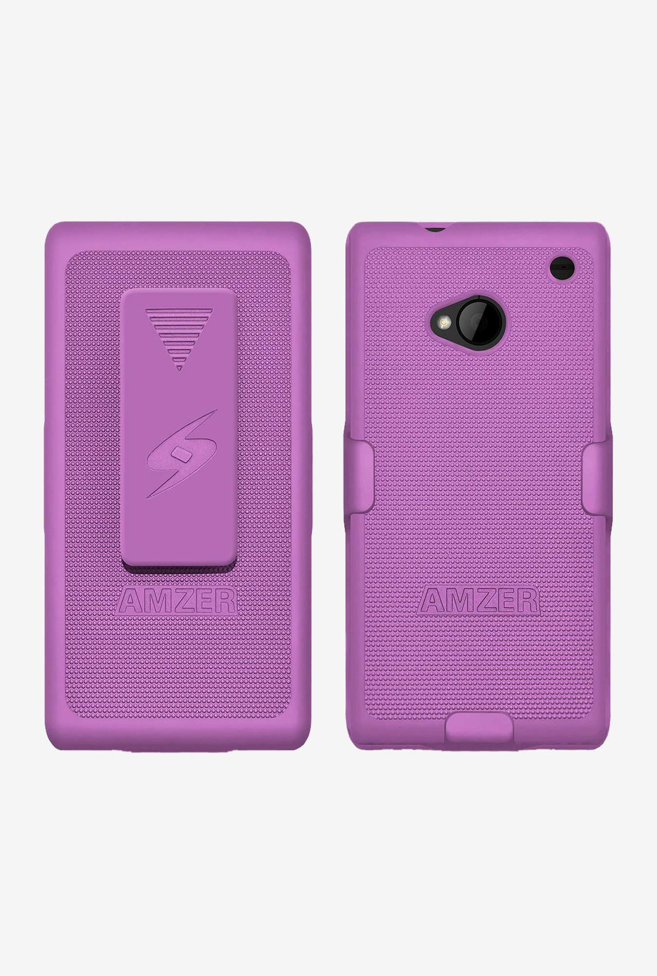 Amzer Shellster Shell Case Purple for HTC One M7