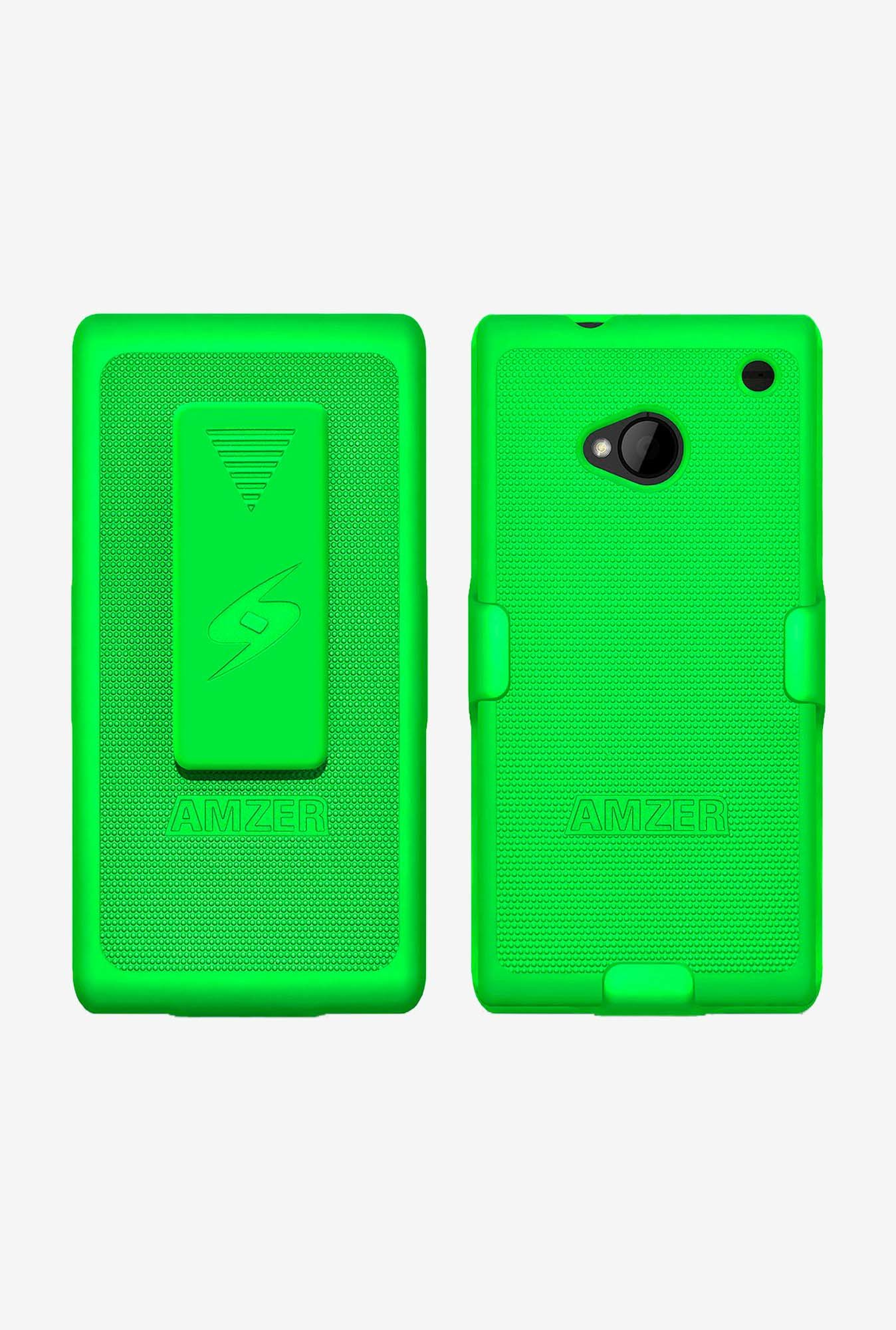 Amzer Shellster Shell Case Green for HTC One M7