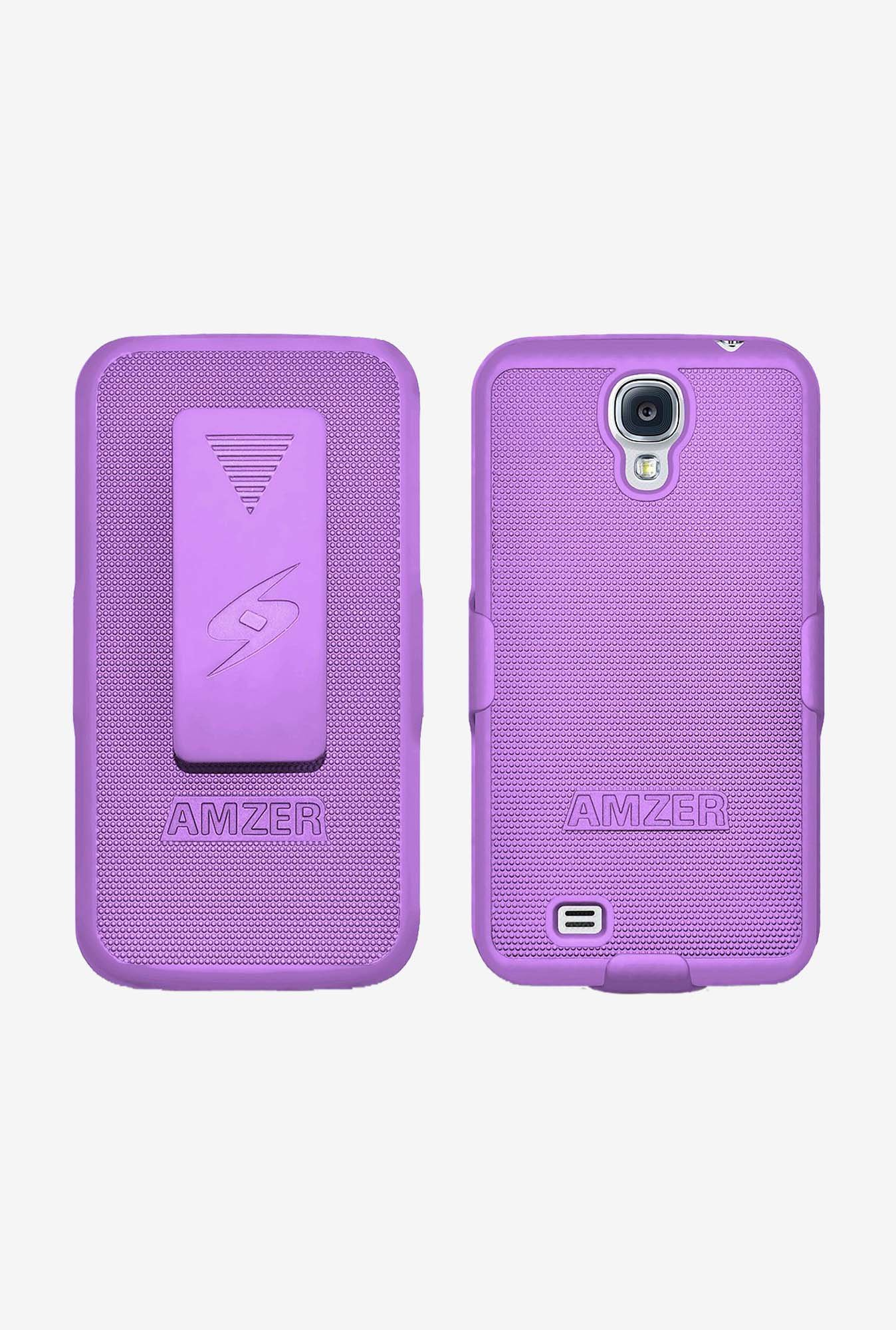 Amzer Shellster Shell Case Purple for Galaxy S4