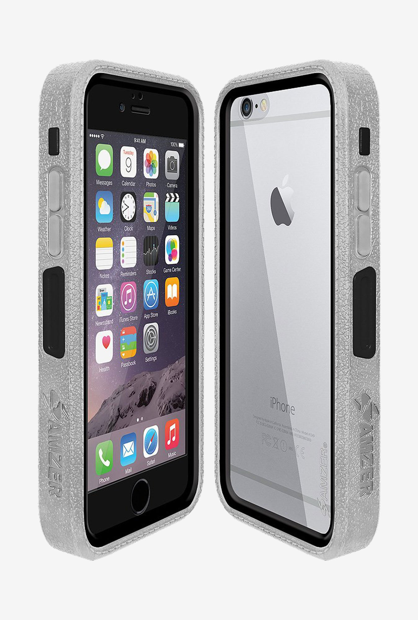 Amzer CRUSTA AMZ300307 Case with Tempered Glass and Holster