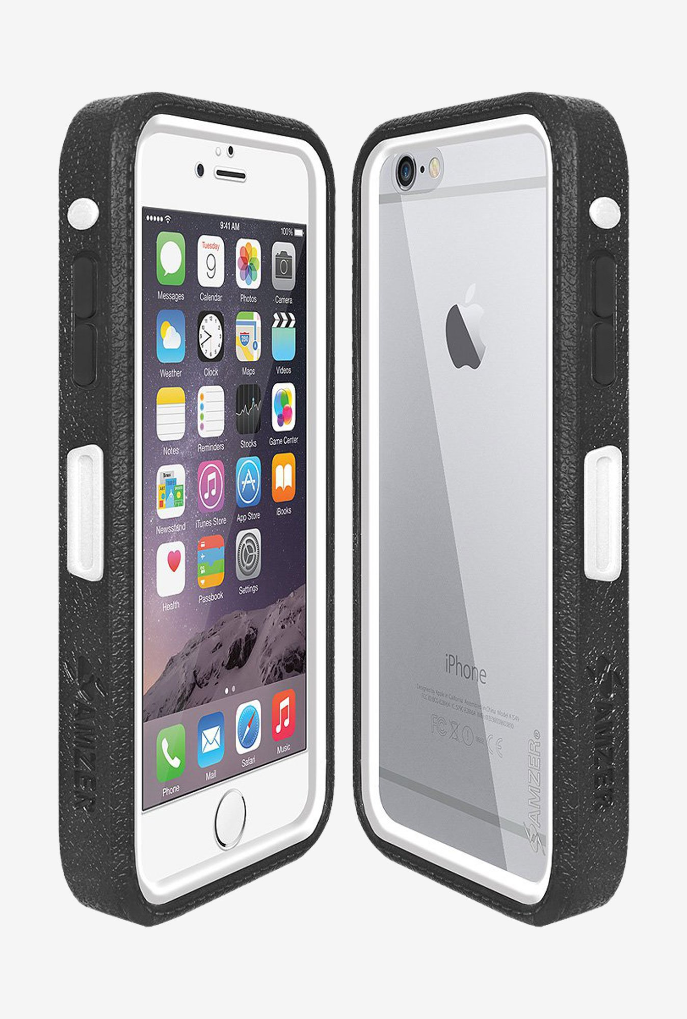 Amzer CRUSTA AMZ300235 Case with Tempered Glass and Holster
