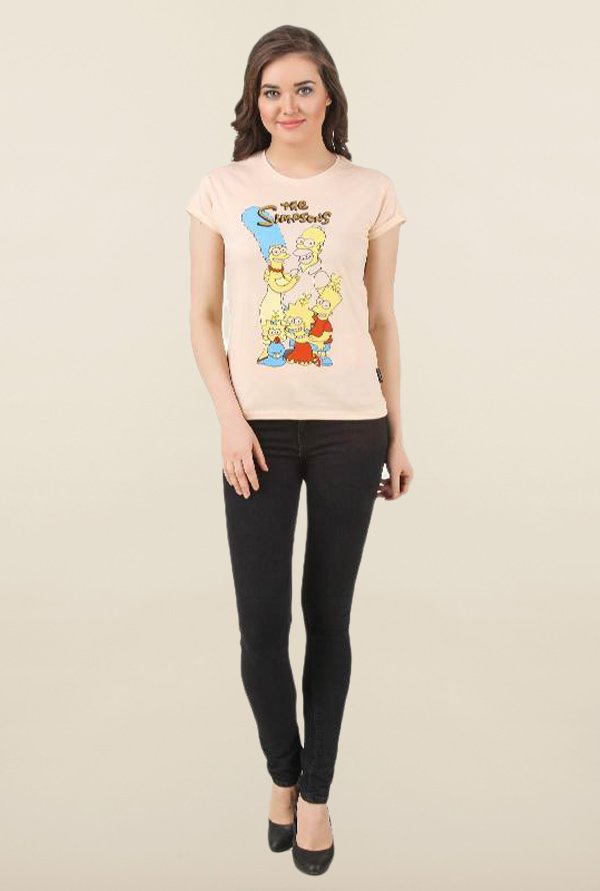The Simpsons Linen Cotton Top