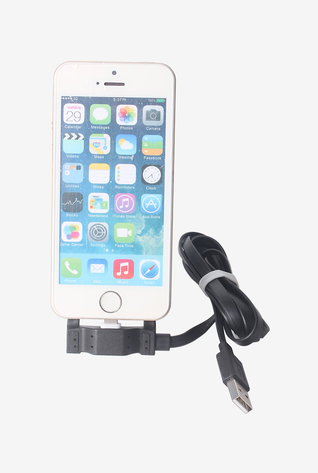 Callmate Multi Function Data Cable Holder for iPhone 6 Black