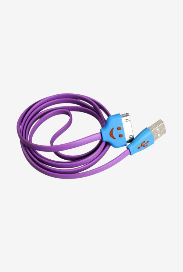 Callmate Flat Micro USB Data & Charging Cable Purple
