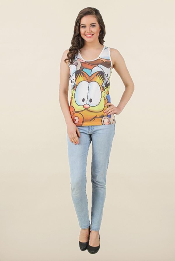 Garfield Multicolor Printed Top