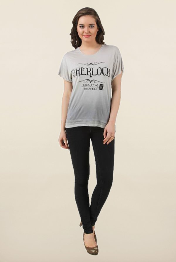 Sherlock Grey Ombre Top