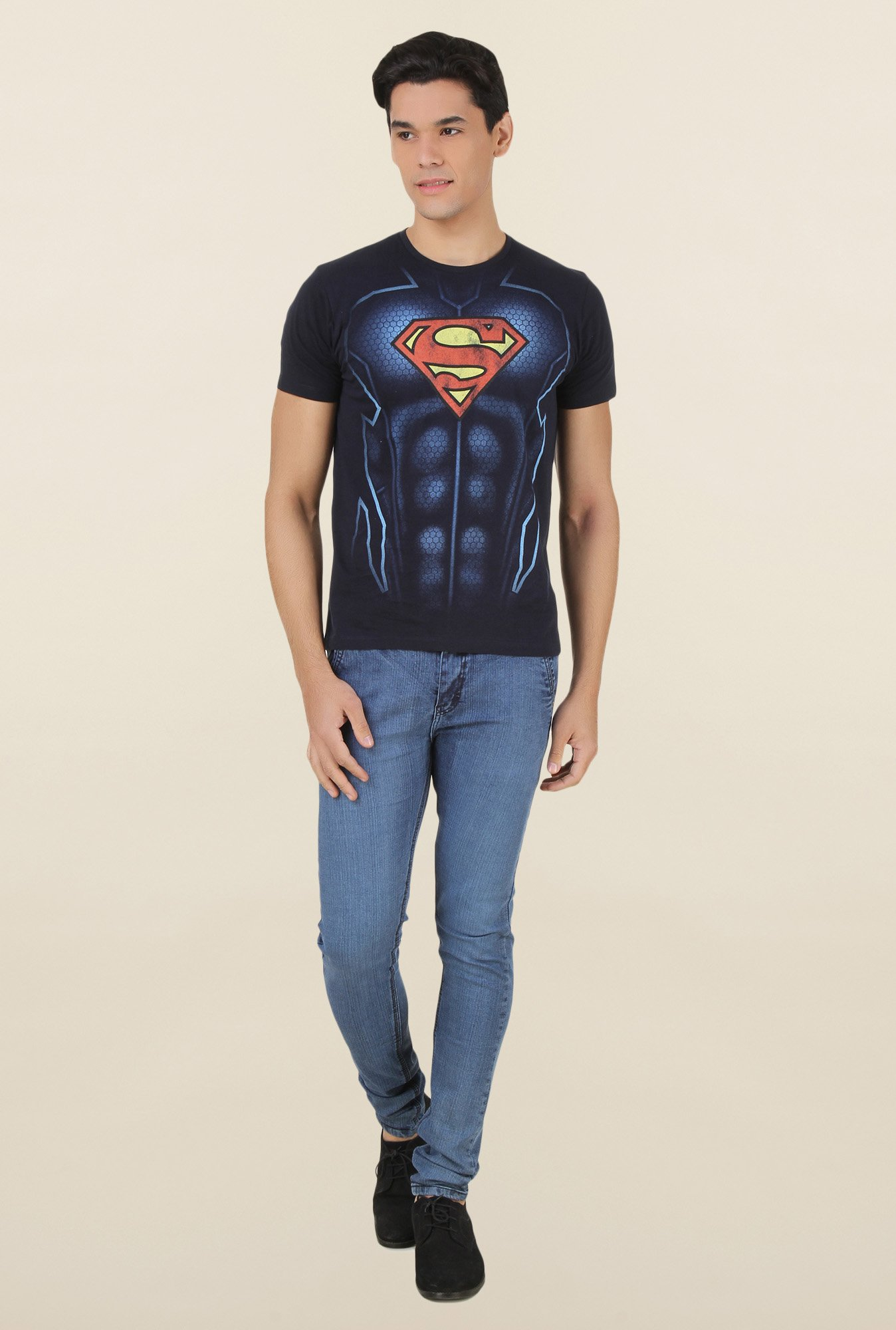 Superman Dark Navy Cotton T Shirt