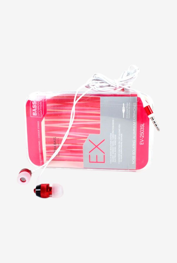 Callmate HFMNMICRD Stereo Headphone with Mic Red