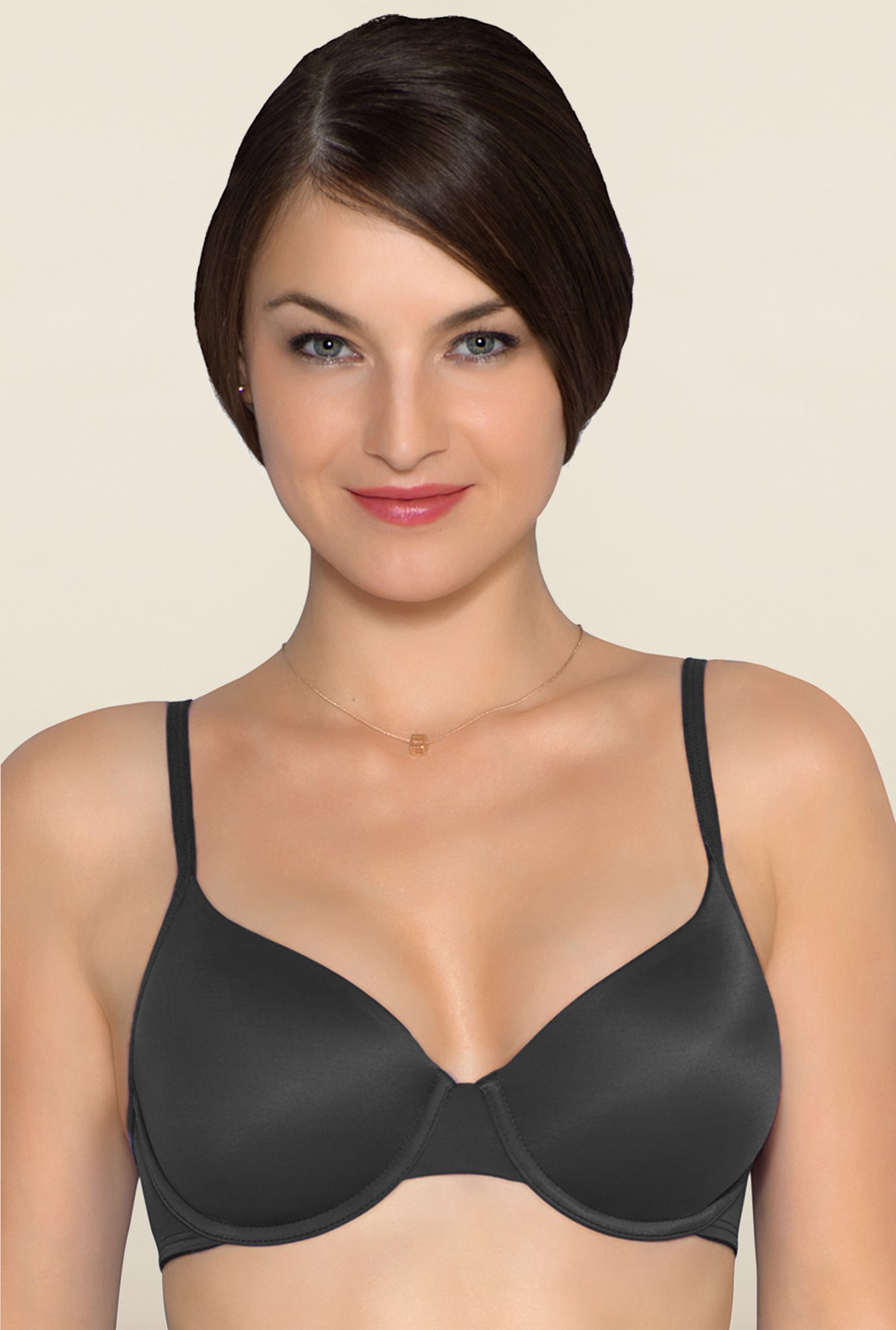 Amante Black Underwired Seamless Bra