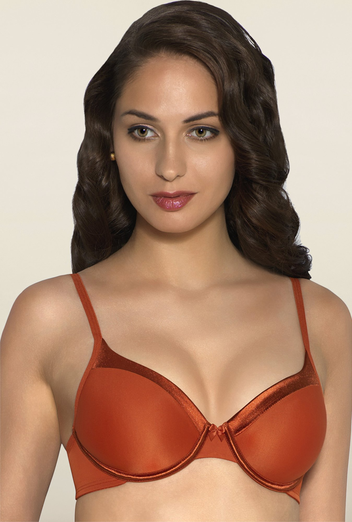 Amante Orange Underwired Padded Bra