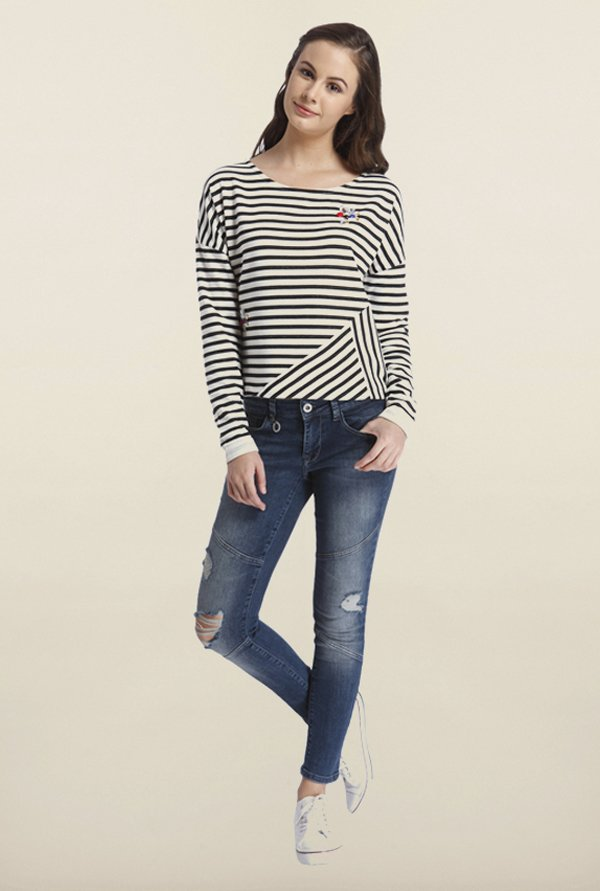 Only Black & White Striped T-Shirt