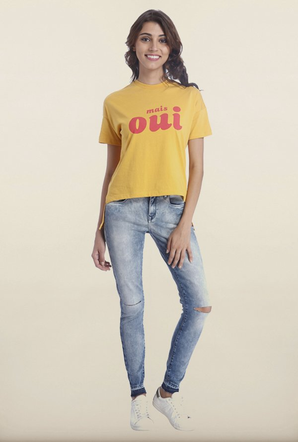Only Honey Gold Printed T-Shirt