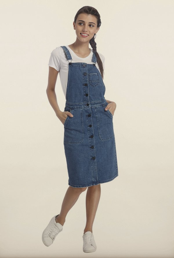 Only Blue Denim Dungarees