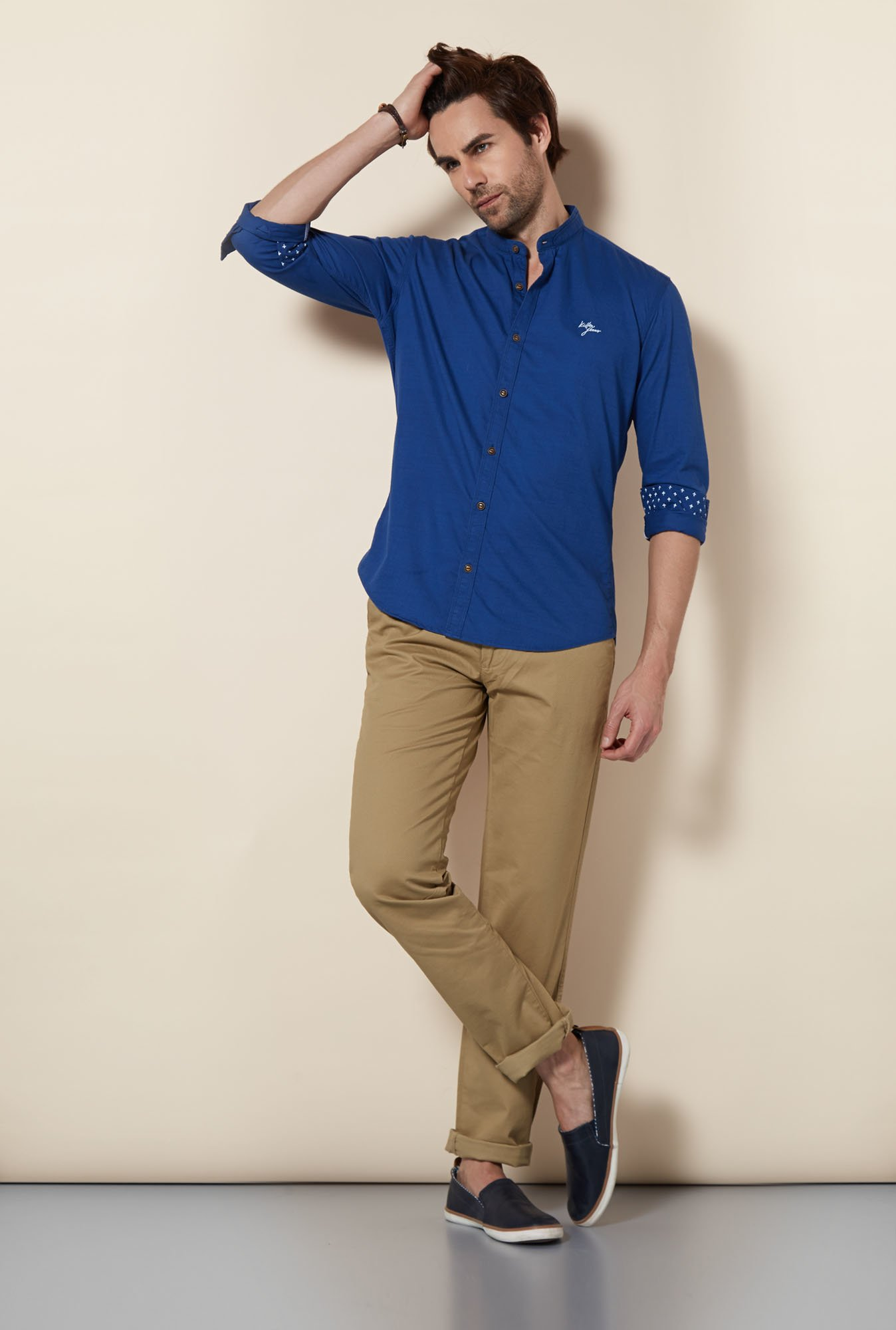 Killer Blue Spectrum Casual Shirt