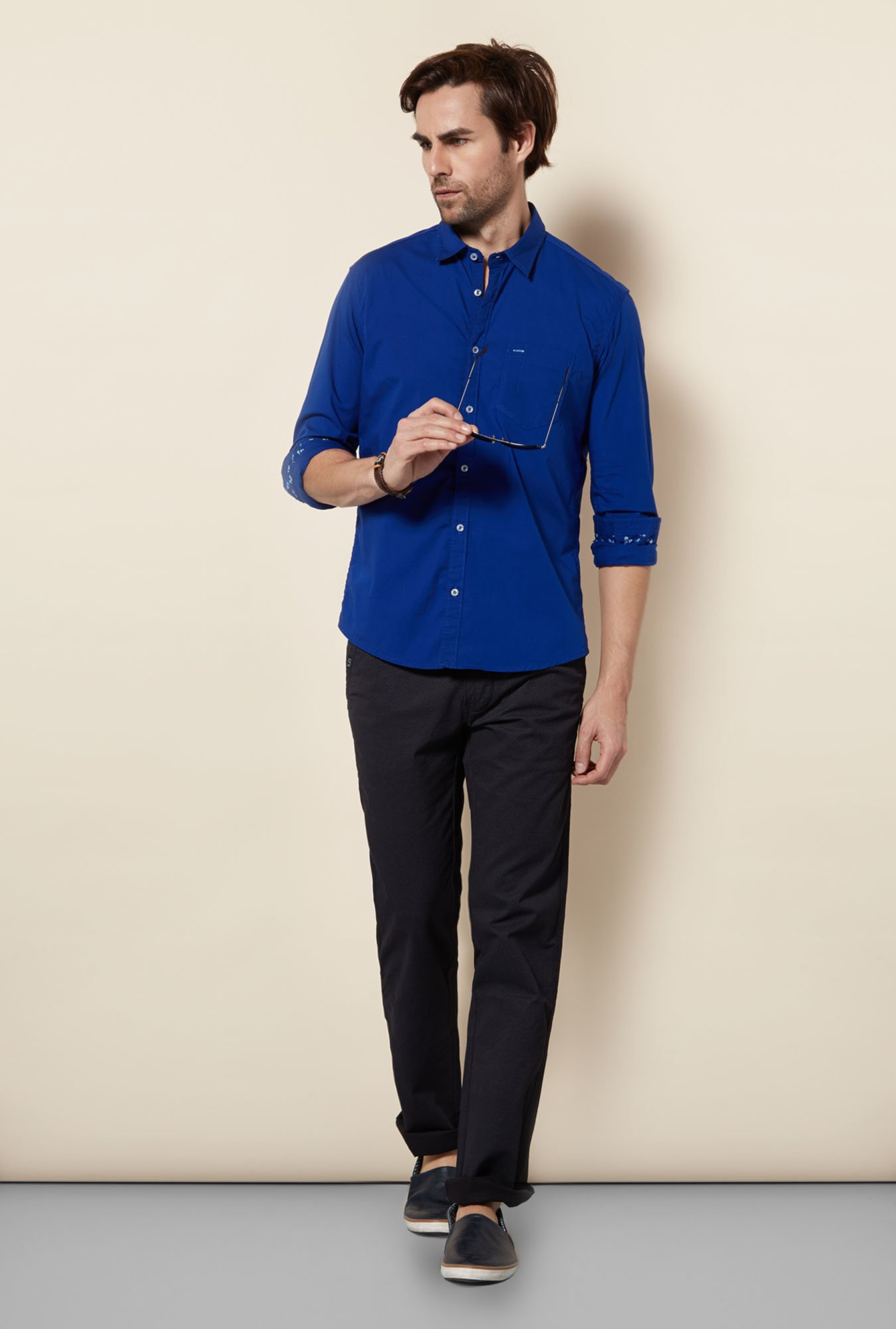 Killer Cobalt Slim Fit Casual Shirt