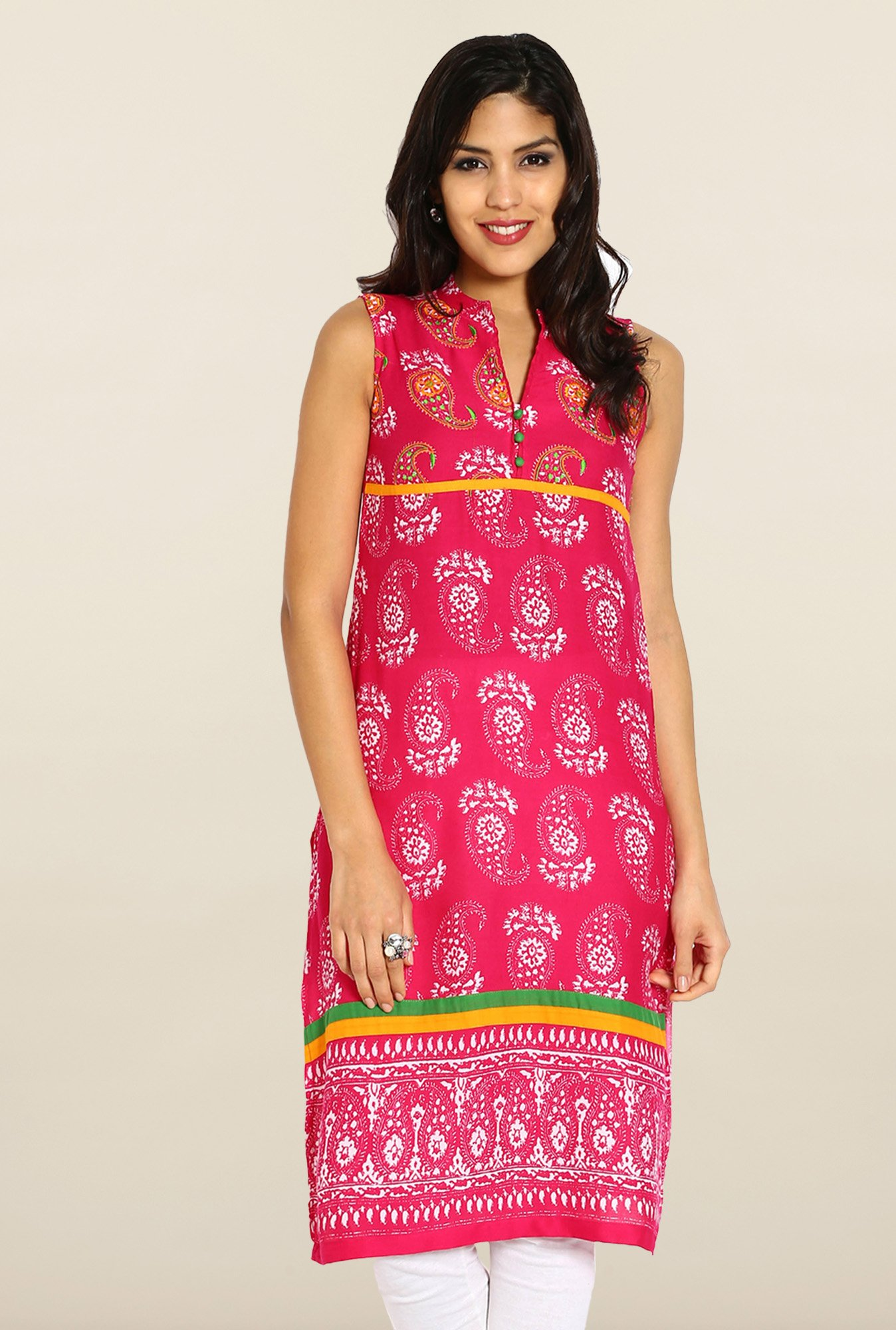 Soch Pink Embroidered Kurta
