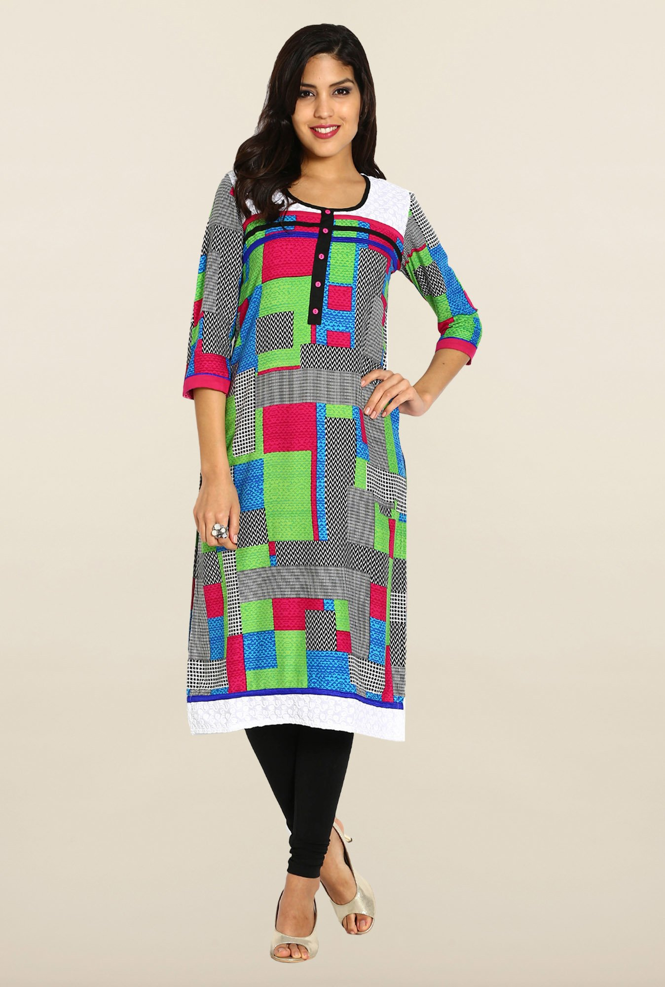 Soch Multicolor Embroidered Kurta