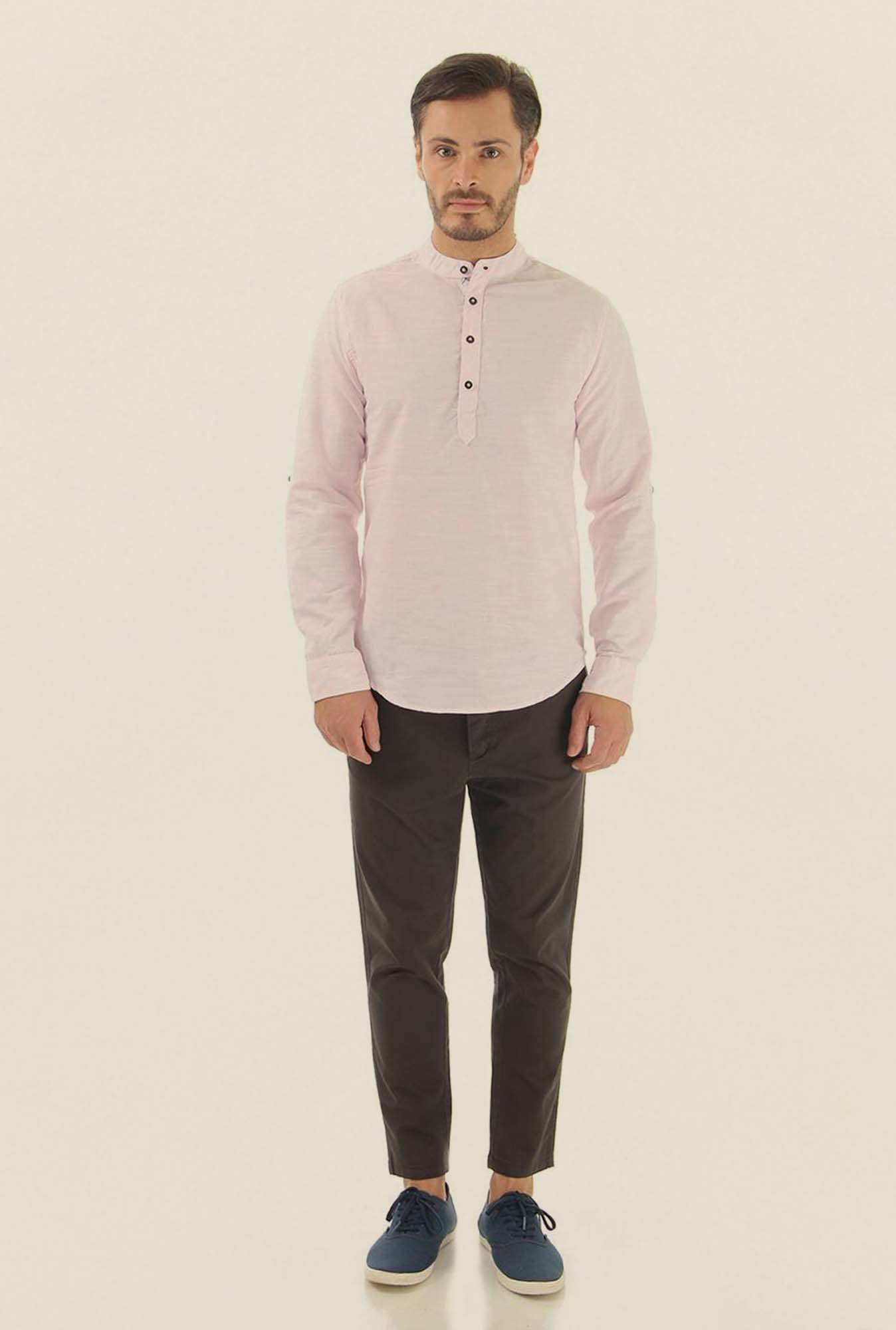 Jack & Jones Lavender Solid Casual Shirt