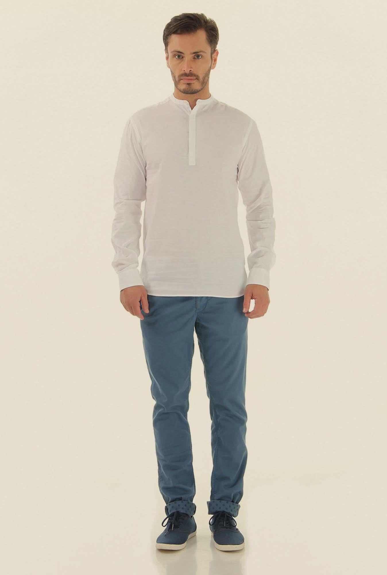 Jack & Jones Light Blue Cotton Chinos