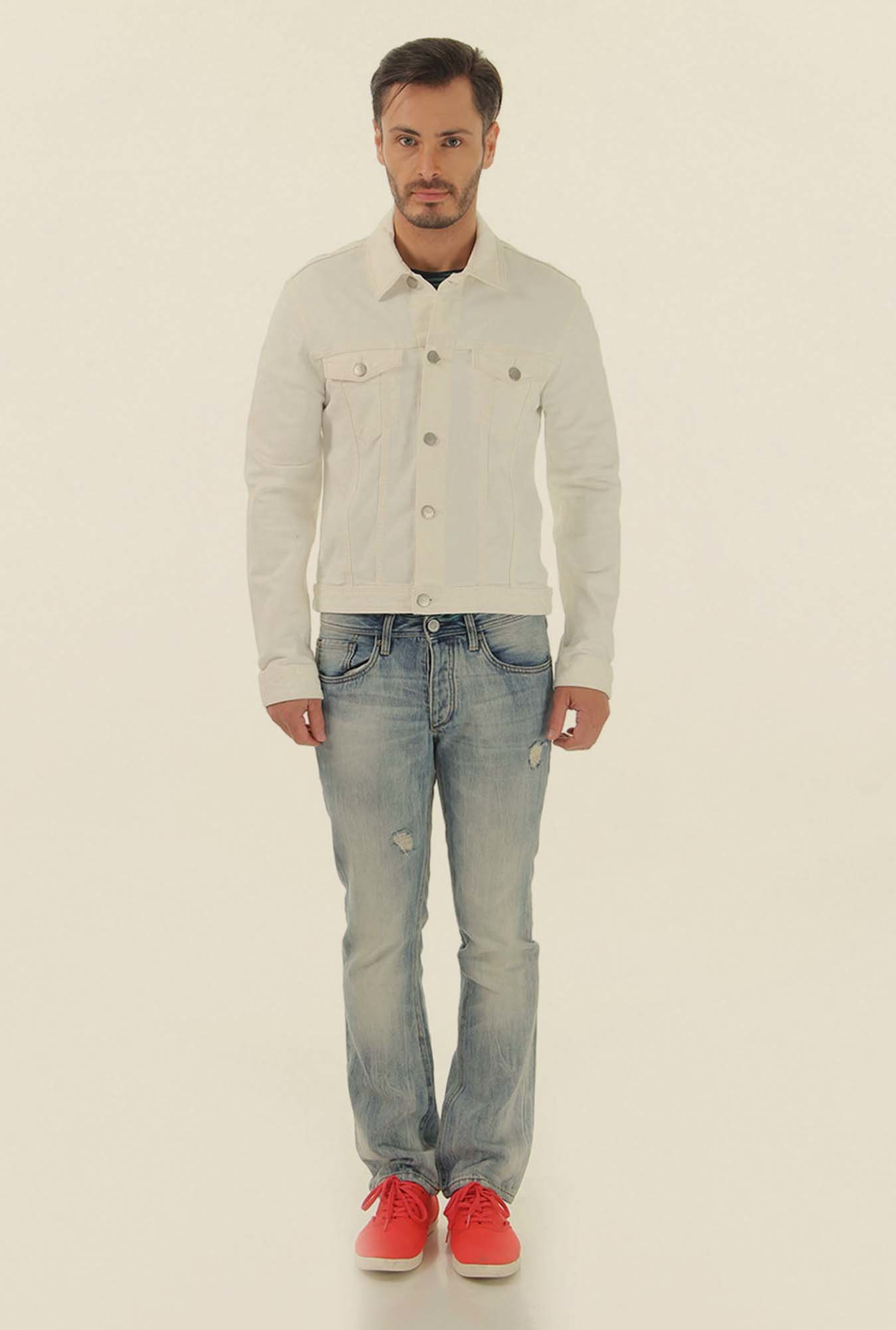 Jack & Jones White Slim Fit Casual Jacket