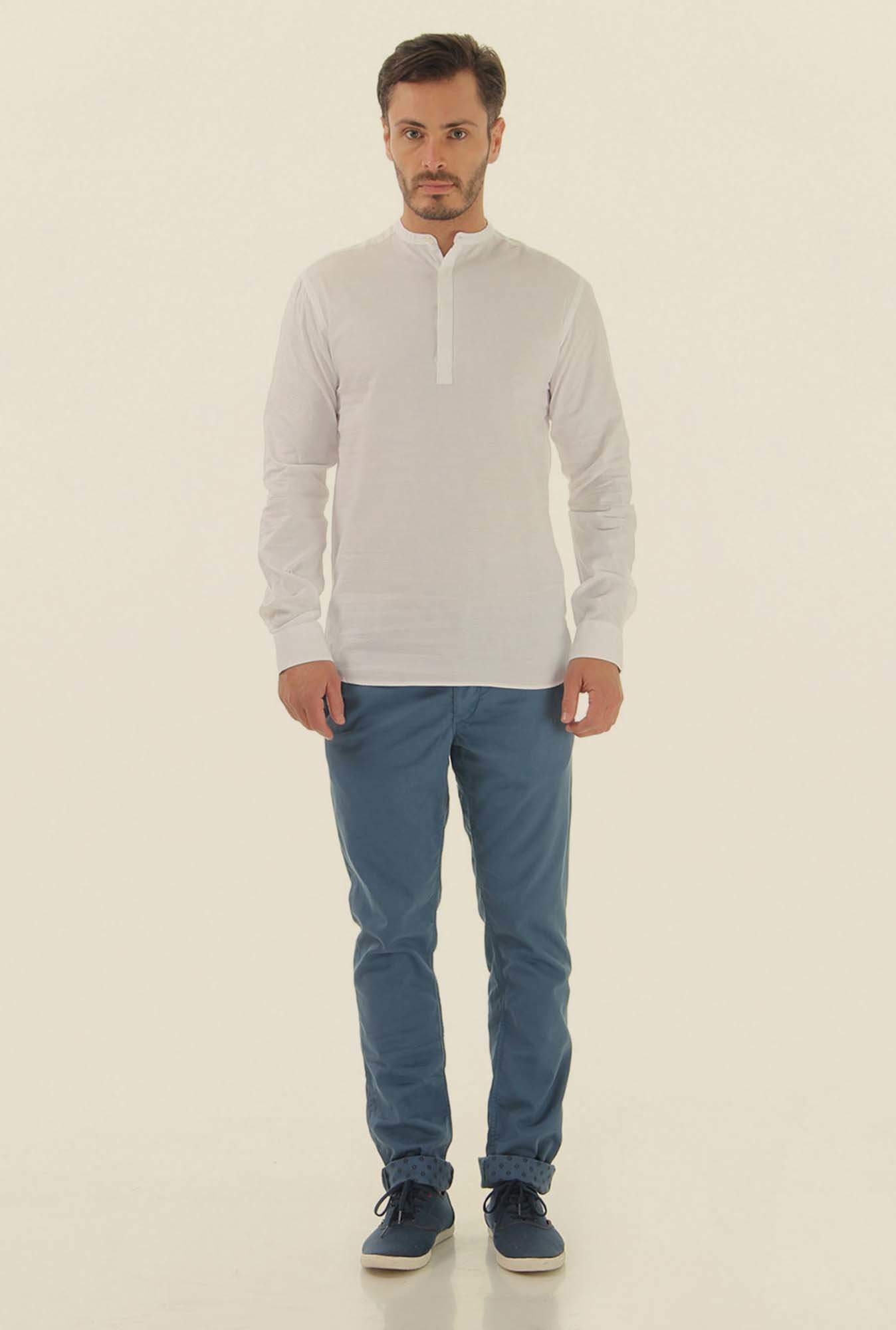 Jack & Jones White Slim Fit Casual Shirt