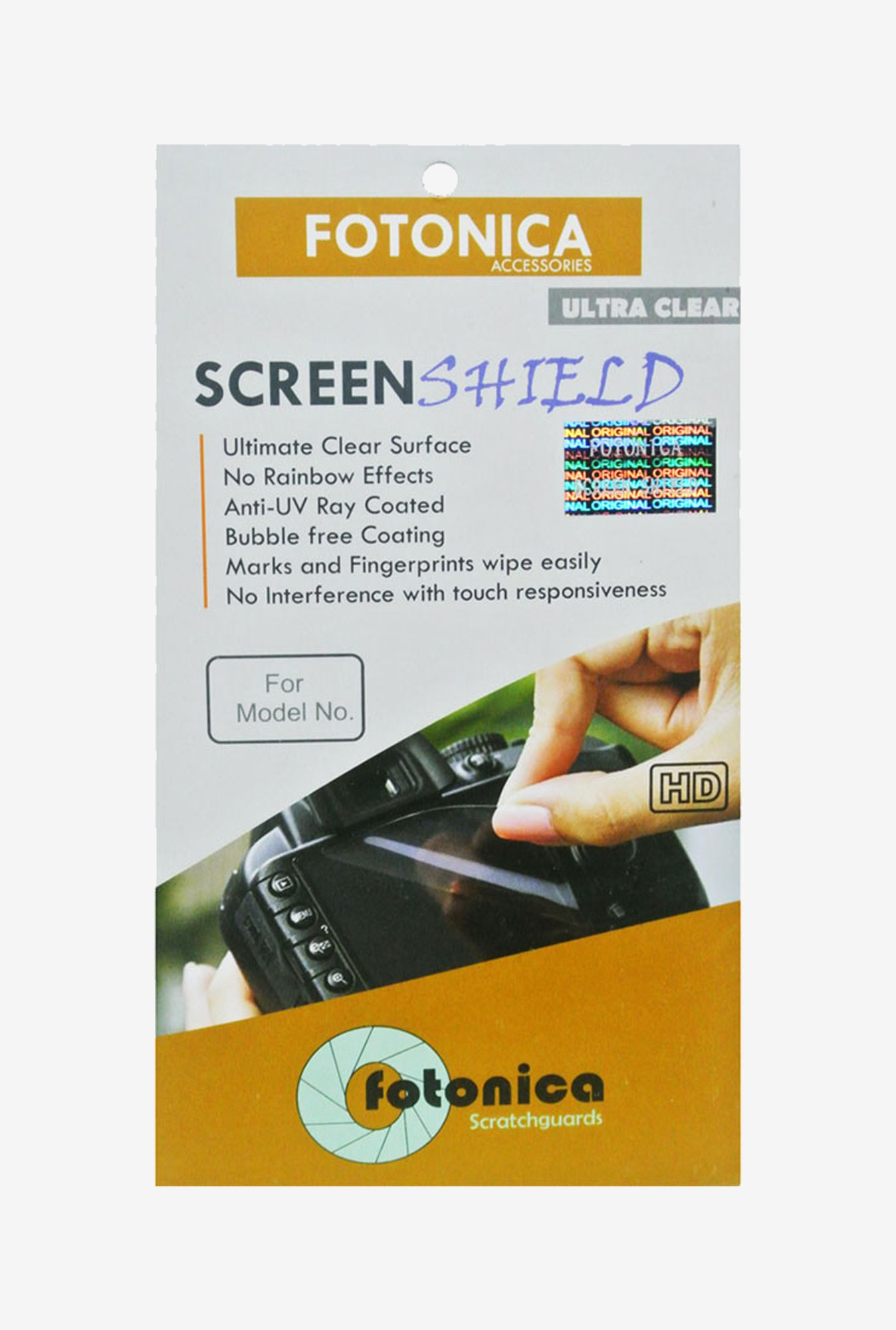 Fotonica Ultra Clean Screen Shield for Nikon D90 DSLR Camera