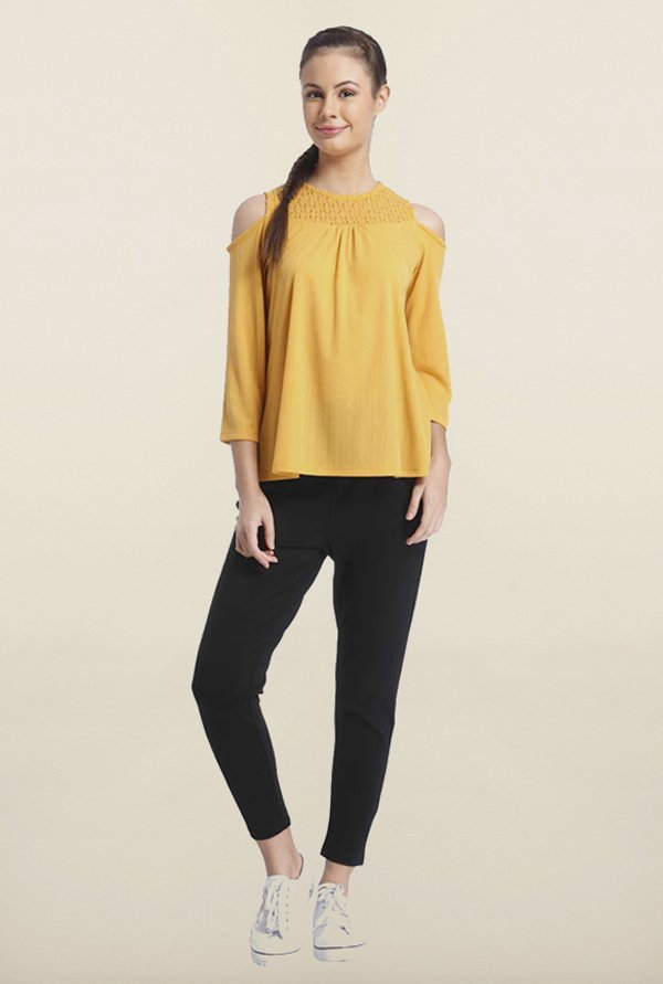 Only Turmeric Lace Top