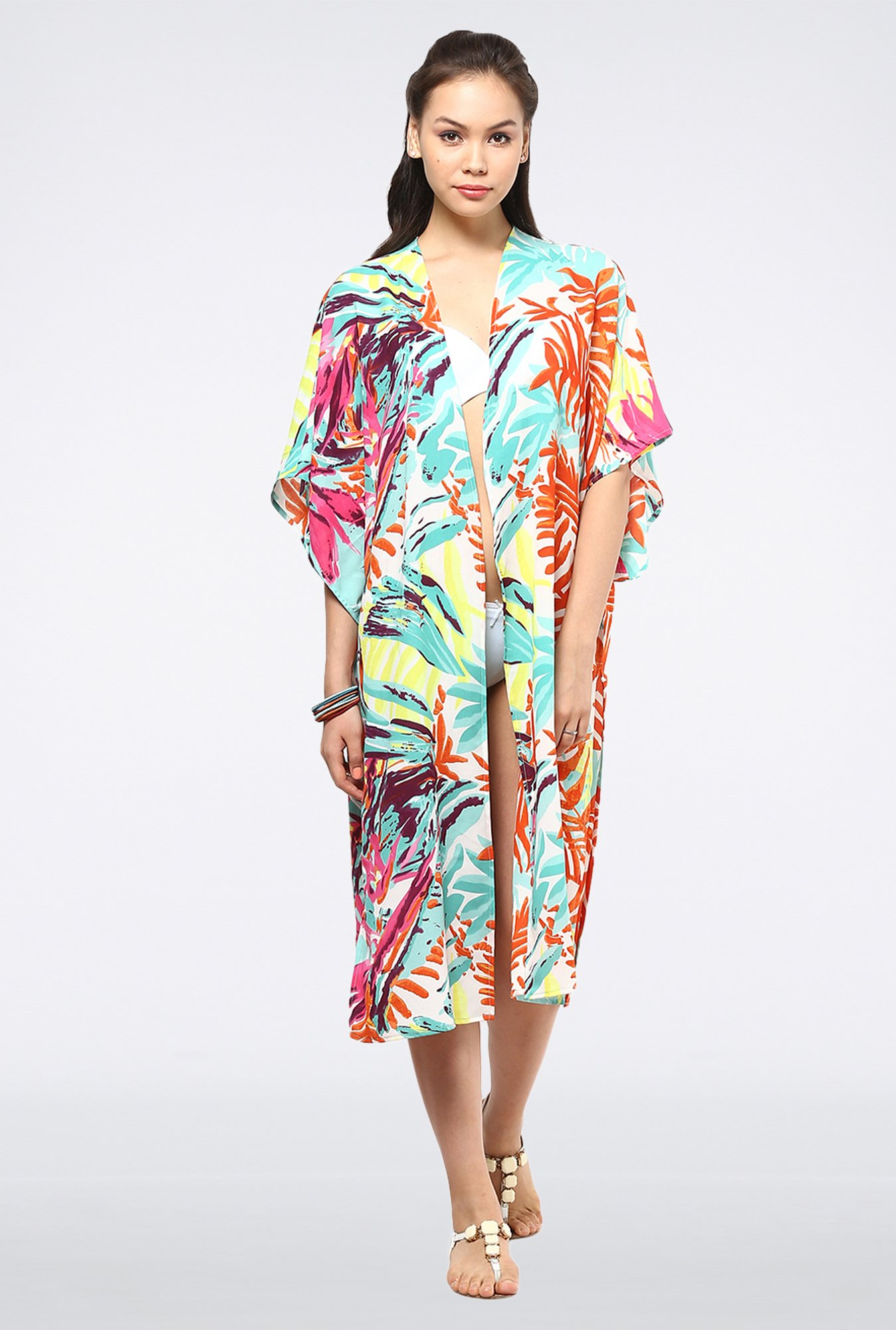 Femella Multicolor Side Slit Cape