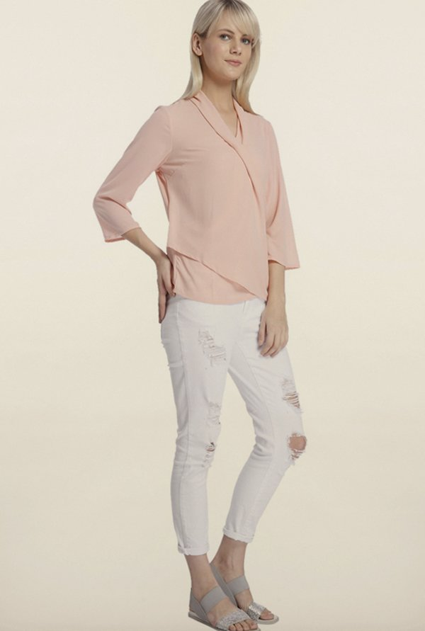 Vero Moda Peach Layered Top