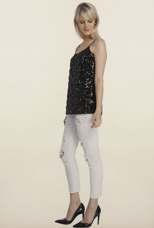 Vero Moda Black Embellished Top