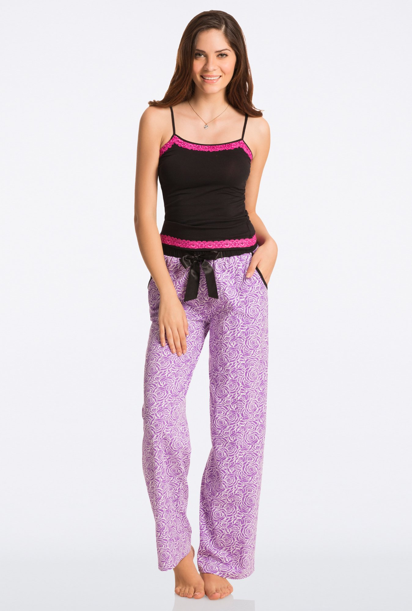 Pretty Secrets Purple Floral Pajama