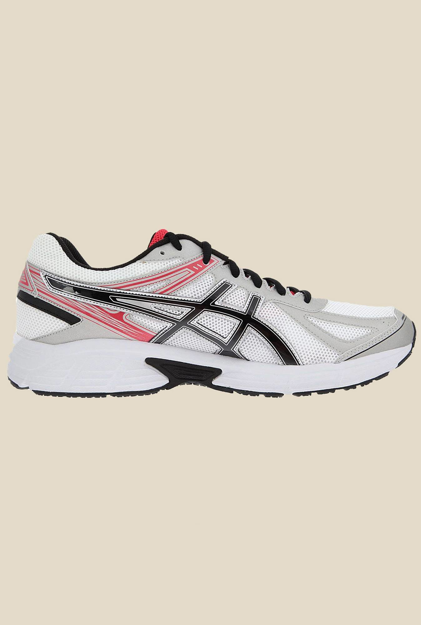 Asics White & Red Running Shoes
