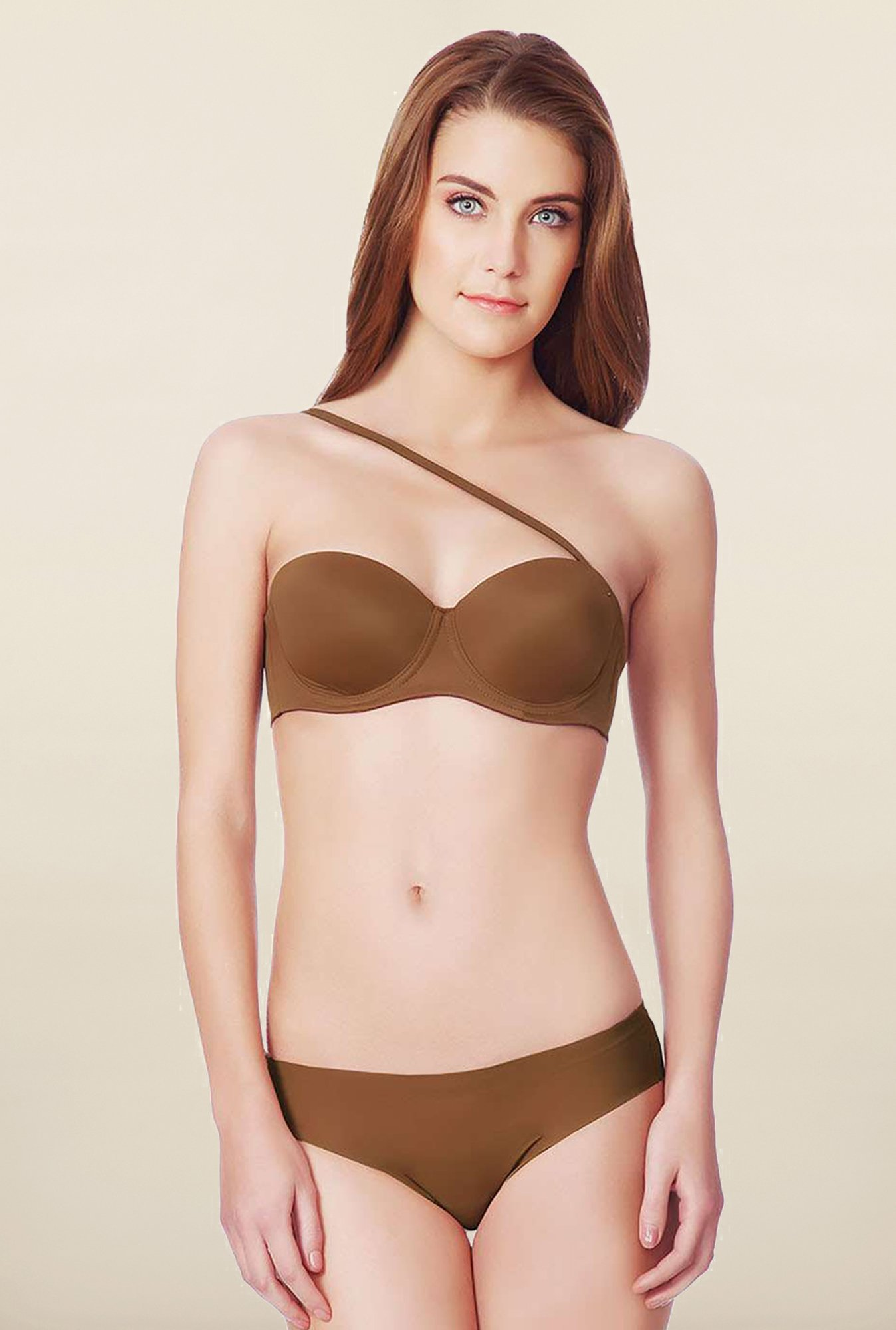Amante Brown Padded Under-Wired Convertible Bra