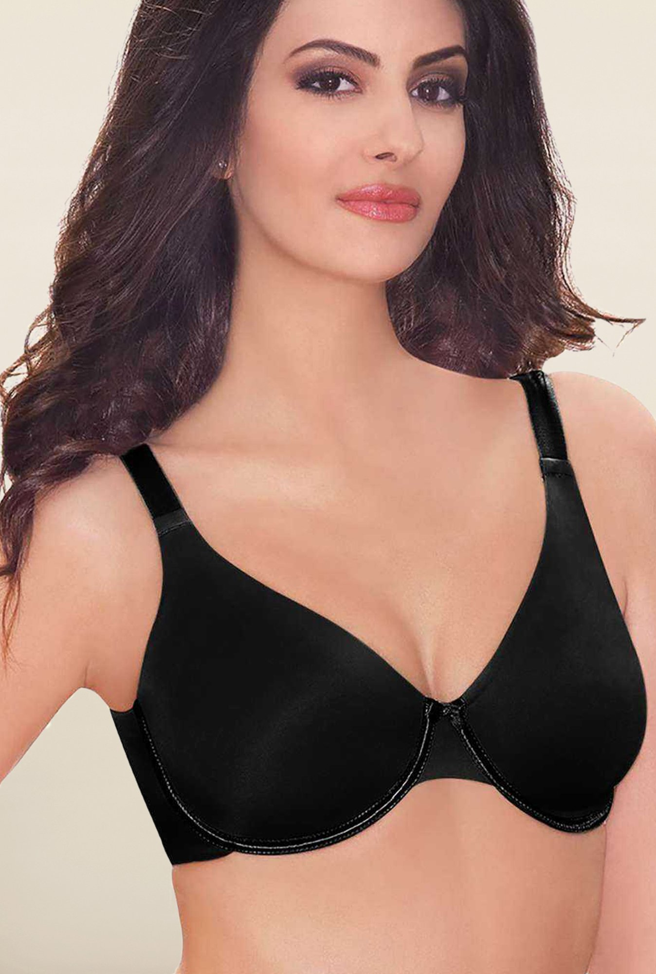 Amante Black Non-Padded Under-Wired Seamless Bra