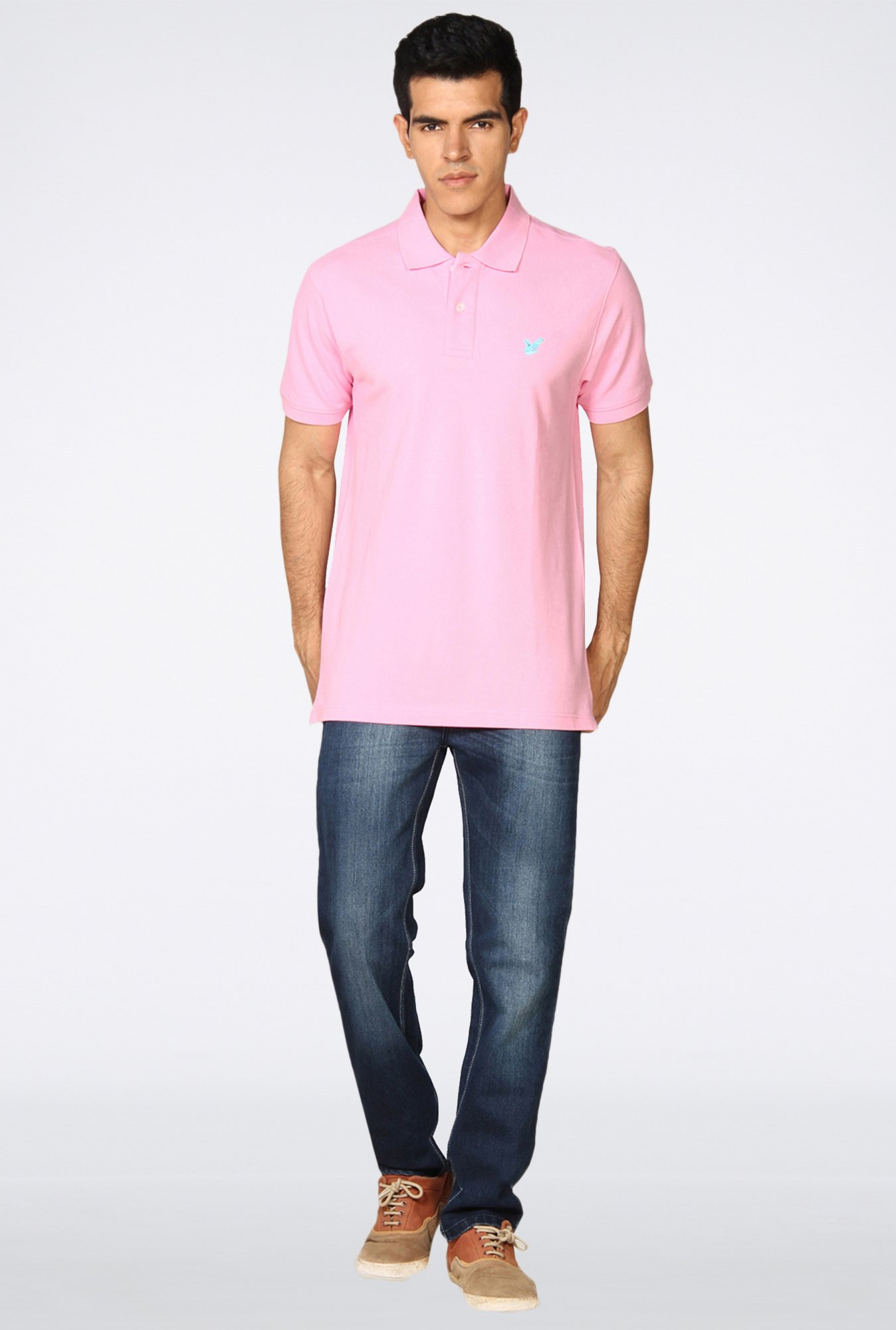 Provogue Pink Polo T-Shirt
