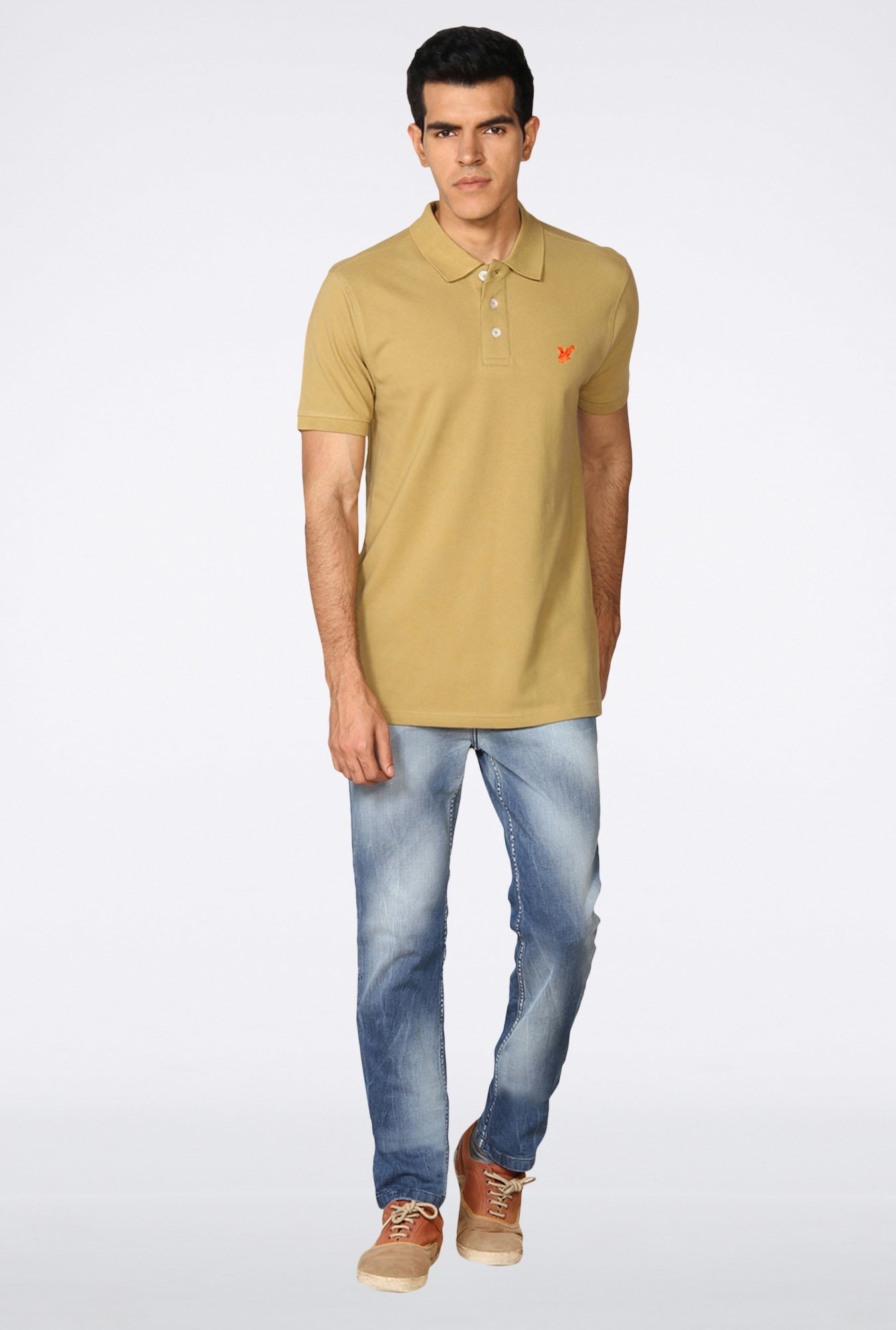 Provogue Light Brown Polo T-Shirt