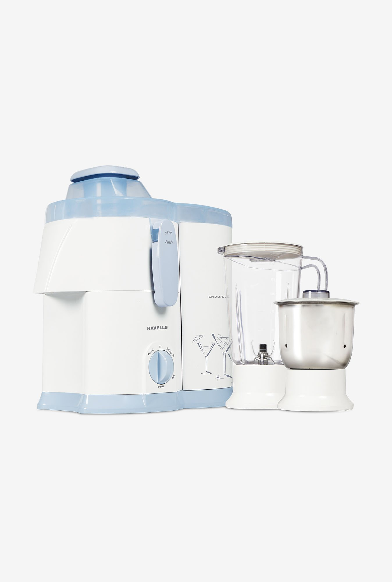 Havells 500-Watt 2 Jar ENDURA Juicer Mixer Grinder White