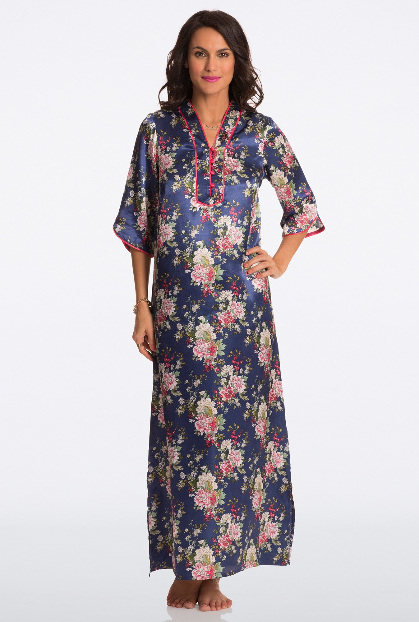Pretty Secrets Blue Floral Print Night Gown