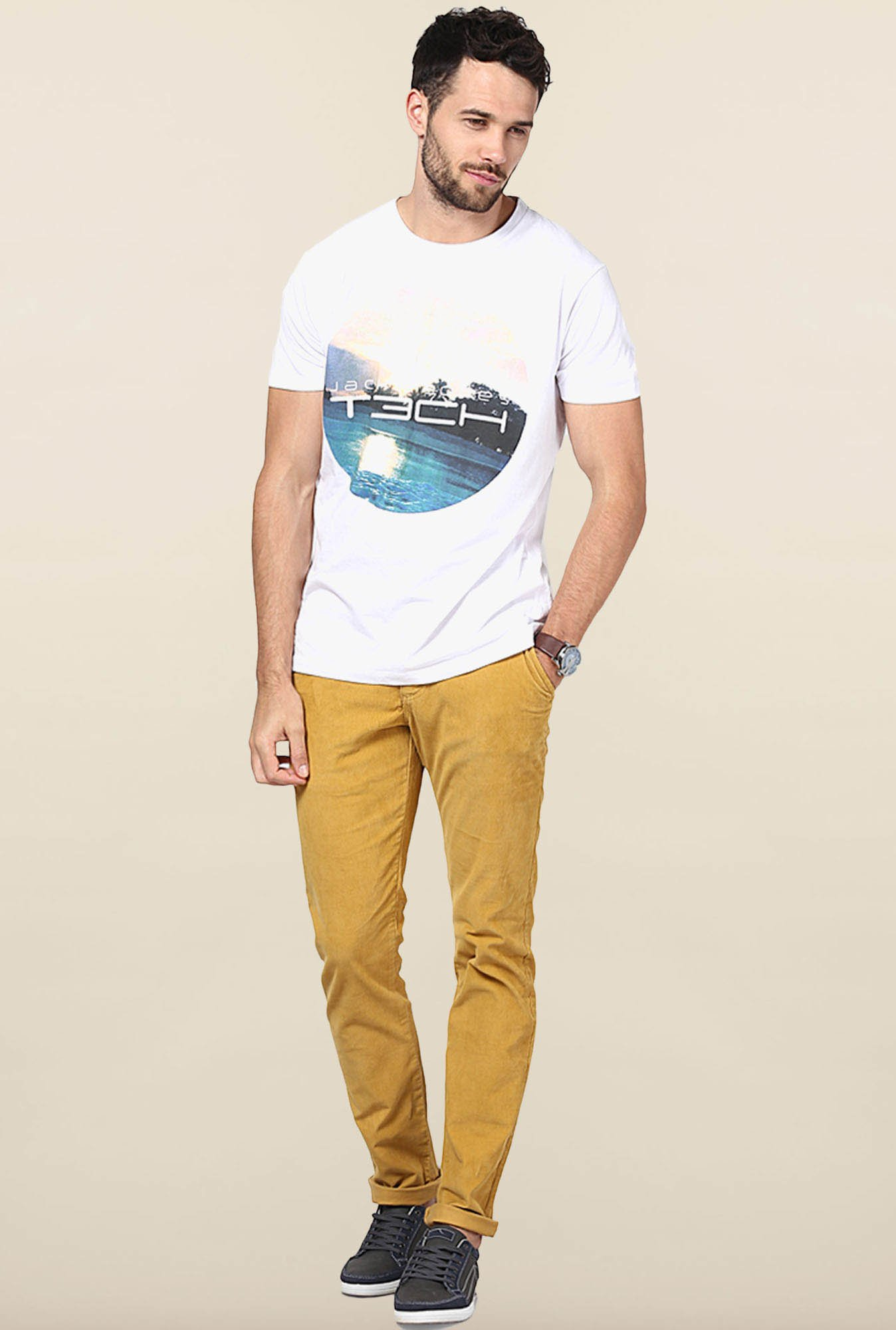 Jack & Jones White Crew Neck T-Shirt